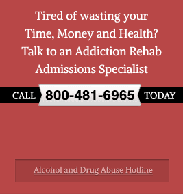 Talk to an Addiction Rehab Admissions Specialist Right Now - Call 800-481-6965