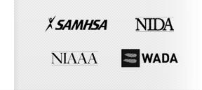 SAMHSA, NIDA, NIAA, WADA
